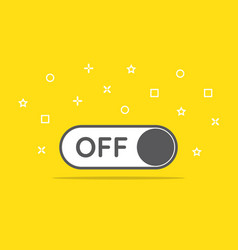 Switch off toggle icon in flat style vector