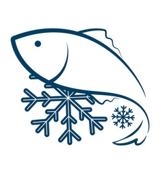 Symbol frozen fish vector