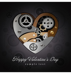Valentine Heart Mechanisms Background vector image vector image