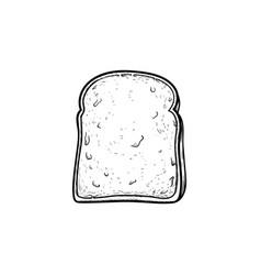 Whole wheat toast bread hand drawn sketch icon vector