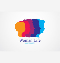 Woman life age years concept the time of life vector
