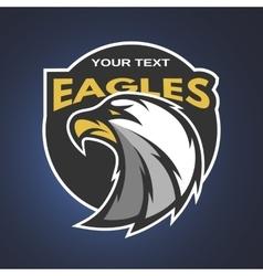 Eagle emblem logo for a sports team vector image vector image