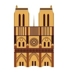Notre Dame de Paris Cathedral vector image