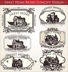 Sweet home - retro concept design vector