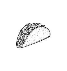 taco hand drawn sketch icon vector image
