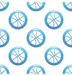 Basketball sign pattern vector image