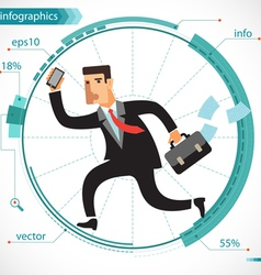 Businessman active vector image