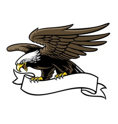 eagle grip a ribbon vector image