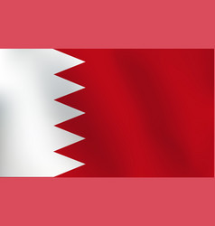 flag of bahrain - vector image
