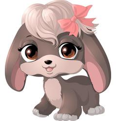 happy cartoon puppy vector image vector image