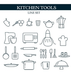 Kitchen tools web icons vector image vector image