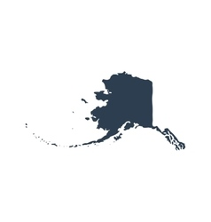 Map of the US state Alaska vector image vector image