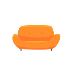 orange sofa or couch living room or office vector image vector image