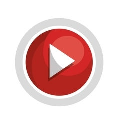 Play video and movie isolated icon design vector image