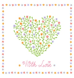 Romantic background with heart vector image