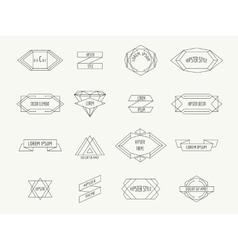 Vintage geometric hipster borders for labels vector image vector image