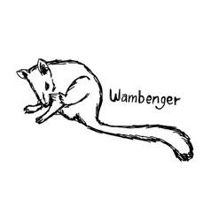 wambenger - sketch hand drawn vector image