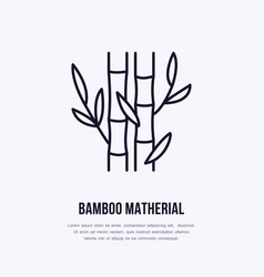bamboo fiber flat line icon sign for vector image vector image