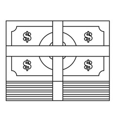 cash icon outline style vector image