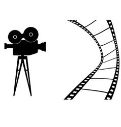 Cinema camera MB vector image