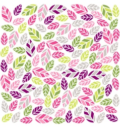 colorful plant pattern with fabric texture vector image vector image