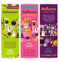 Halloween Party Invitation Flyers vector image vector image