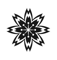 japanese flower decorative symbol vector image