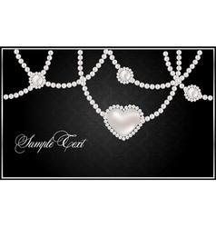 pearl hearts vector image