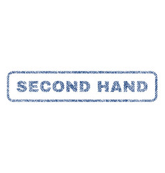 Second hand textile stamp vector