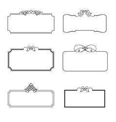 set of decorative frames vector image vector image