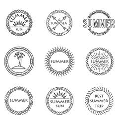 set of stamp vector image