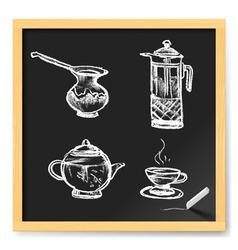 Tea and coffee vector image
