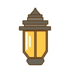 vintage street lamp vector image vector image