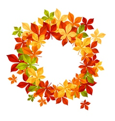autumn falling leaves in frame for seasonal or tha vector image vector image