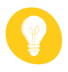 bulb light creativity innovation icon color vector image