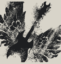 With an electric guitar and wings vector