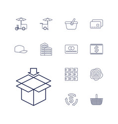 13 store icons vector