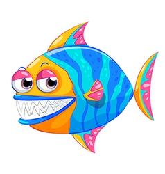 A colorful piranha vector image