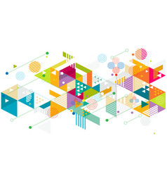 abstract colorful and creative mix geometric vector image