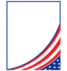 American abstract flag corner banner border vector