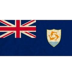 Anguilla paper flag vector image
