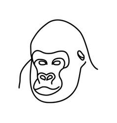 animal gorilla icon design clip art line icon vector image