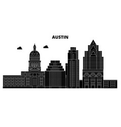 Austinunited states skyline travel vector