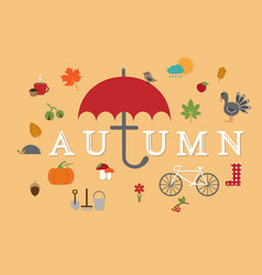 autumn flat collection vector image