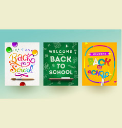 back to school - set of banners vector image