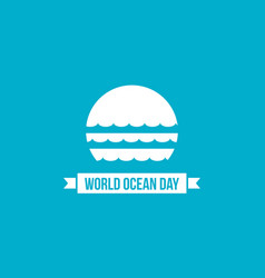Background of world ocean day sytle vector