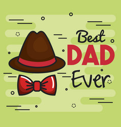 Best dad card vector