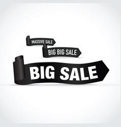 Big sale sign set in black vector
