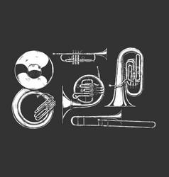 Brass musical instrument vector
