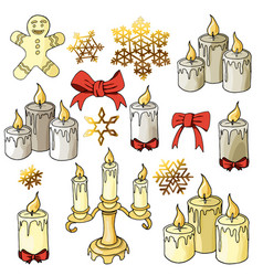 candles colored variants with elements cookieman vector image